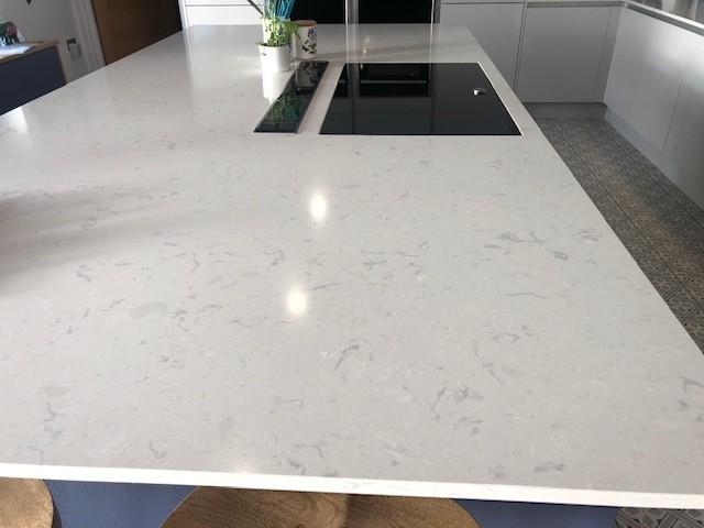 White Marble Worktops Kitchen